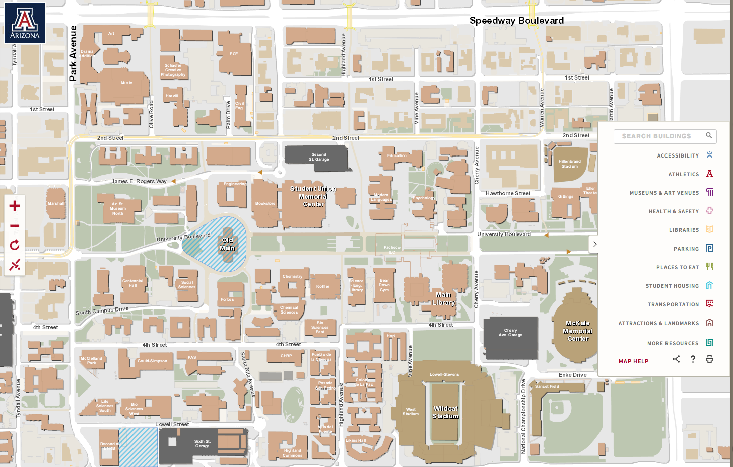 Interactive Campus Map Ua.New Interactive Map Makes Navigating Campus Easier Ua Work