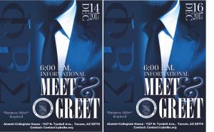 Phi Beta Sigma Fraternity, Inc. Lambda Kappa Sigma Chapter Collegiate  & Alumni Meet & Greet  December 14, 2017 & December 16, 2017 (Repsectively) 6:00 pm 1127 N. Tyndall Avenue, #2