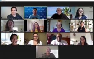 Screenshot of UA Toastmasters Zoom meeting