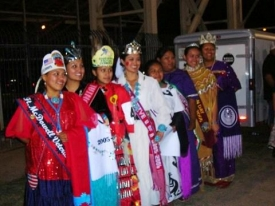 Dancers wait to perform at last year's pow wow.
