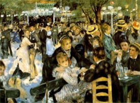 """French impressionist artist Pierre-Auguste Renoir was able to paint despite his rheumatoid arthritis. Shown here is his """"Le Moulin de la Galette,"""" 1876."""
