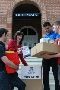 Throughout the UA4Food campaign, donation bins will be set up around campus. (Photo courtesy of Sheila McGinnis)