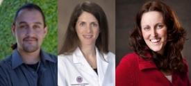 From left: Nolan Cabrera, Dr. Aimee C. Kaempf, Melissa Curran