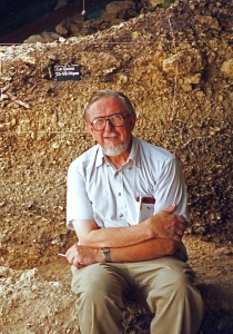 Art Jelinek took this self-portrait in 1994 at the close of 10 years of excavations at the site of La Quina in France.