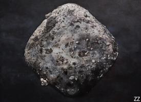 Zoe Zeszut's representation of the near-Earth asteroid Bennu.