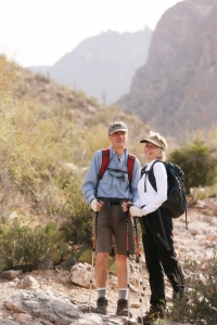 The Bowdens could frequently be seen hiking up Mt. Lemmon or on trails in Sabino Canyon.