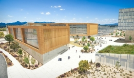 Artistic rendering of the UA Tech Park at The Bridges, which is under development.