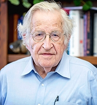 Noam Chomsky, professor in the Department of Linguistics