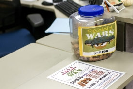 "FSO is holding a ""penny war"" to support the Employee Emergency Fund. (Photo by Kyle Mittan/University Communications)"