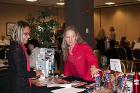 The expo will feature booths from more than 40 campus units and organizations to explain what services, resources and perks they each offer to employees. Photo from a previous year's expo.