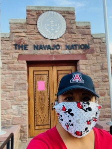 Karen Francis-Begay during her visit to the Navajo Nation.