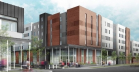 This illustration shows the exterior of the Honors Village, which will serve as the central hub for the UA Honors College. The project is expected to be completed by next fall.