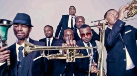 Hypnotic Brass performs at the Rialto Theatre on Jan. 11.