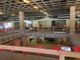 Demolition inside the Main Library will make way for a new staircase. (Photo courtesy of Sundt Construction)