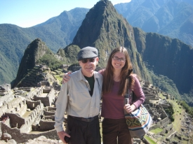 Scruggs and daughter, Elizabeth, at Machu Picchu. (Photo courtesy of Elizabeth Scruggs)