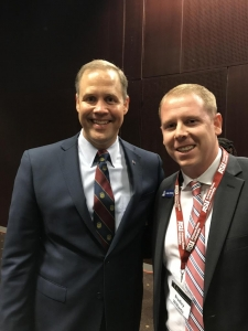 Bradley Williams, right, and NASA administrator Jim Bridenstine. (Photo courtesy of Bradley Williams)