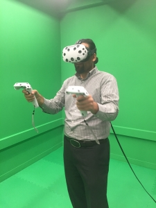 Jason Aragon, from the Udall Center, was among the participants at the VR Summit.