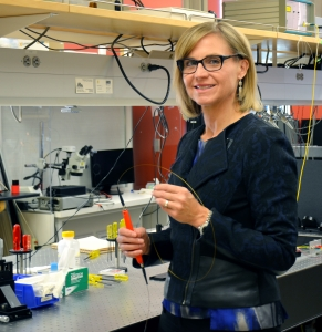 Jennifer K. Barton, director of the BIO5 Institute, in her lab in the Thomas W. Keating Bioresearch Building.
