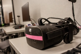 The Virtual Reality Studio offers several types of virtual reality viewers. (Photo by Kyle Mittan/University Communications)