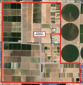 An aerial view of the proposed Maricopa Agricultural Center.
