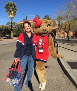 Madelyn Mock and Wilma T. Wildcat (Photo courtesy of Madelyn Mock)