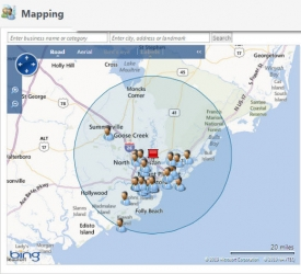 Lynx has a mapping tool that helps development officers select meeting locations based on the location of participants.