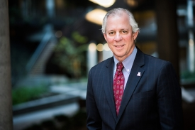 Meet the new president, Robert C. Robbins, at an event at Old Main on June 1.