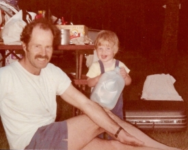 Scruggs with daughter, Elizabeth, in 1985. (Photo courtesy of Elizabeth Scruggs)