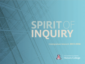 """The Spirit of Inquiry,"" an annual publication about the Honors College undergraduate research program of the same name earned a Silver ADDY."