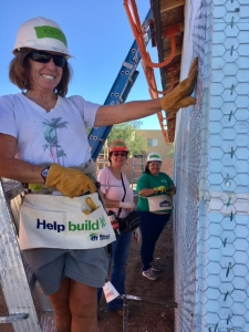 UA employees volunteering with Habitat for Humanity.