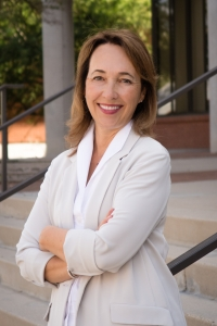 Tannis Gibson will serve as dean of the College of Fine Arts for the 2017-18 year. (Photo by Mindi Acosta)