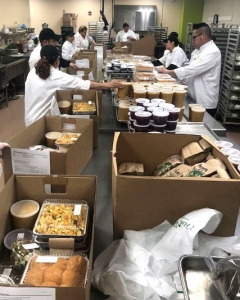 Last year, Executive Chef Michael Omo's team made 270 meals.