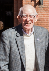 Thompson outside the museum in February 2018.