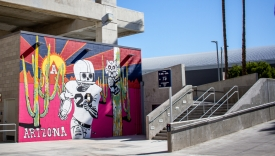 The mural is part of an effort, as part of the UA's strategic plan, to make art a defining feature of the University. (Photo: Kyle Mittan/University Communications)