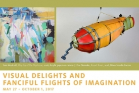 "The ""Visual Delights and Fanciful Flights of Imagination"" exhibit reception will start at 5 p.m."