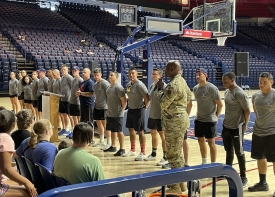 Chief Master Sgt. Dana Council of the Air Force was among the guest speakers at this year's Youth Impact Program camp.