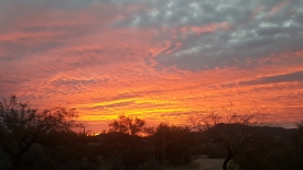 Steve Allvin, senior mechanical and plumbing inspector in Planning, Design and Construction, shared this photo of a sunset in an email to colleagues. The message and photo prompted many PDC employees to respond with their own photos. (Photo courtesy of Steve Allvin)