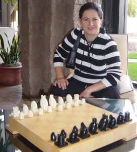Anjelina Belakovskaia, a lecturer at the UA Eller College of Management, is a three-time U.S. Women's Chess Champion.
