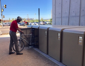 Bicycle lockers have been added at the Shantz building, the Honors Village and the Cancer Center.
