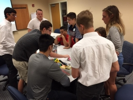 Students working together in the Build the Skill: Collaboration program.