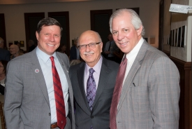 Fayez K. Ghishan (center) with Charles B. Cairns, dean of the College of Medicine – Tucson, and UA President Robert C. Robbins.