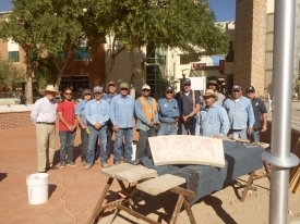Members of the USS Arizona Mall Memorial design and construction team. (Photo credit: Leonard Escalante/Facilities Management)