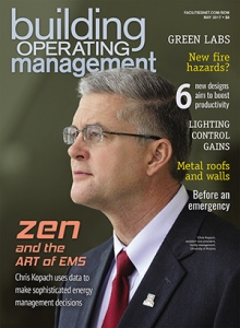 Chris Kopach and the UA's energy management systems were featured in the May issue of Building Operating Management magazine.
