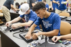 Students interested in engineering, math or science have the opportunity to discover an assortment of engineering degrees, research areas and careers at the Summer Engineering Academy.