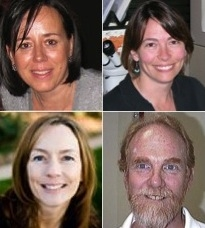 (Clockwise starting top left) Patricia Stock, Wendy Moore, Paul Baker, Dawn Gouge