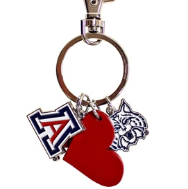 This keychain is available at uabookstores.arizona.edu.