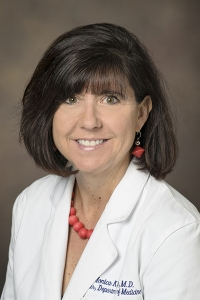 Dr. Monica Kraft, chair of the Department of Medicine