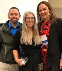 Kristen Lilly, center, with fellow adjunct assistant professors Michael Buchsbaum and Jamie Timmerman. (Photo courtesy of Kristen Lilly)
