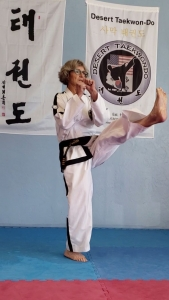Moore has been training in taekwondo for 16 years and is a fourth-degree black belt. (Photo courtesy of Ki Moore)