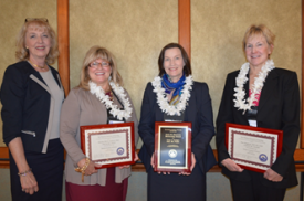 UA College of Nursing Dean Joan Shaver (left), Marylyn McEwen, Terry Badger and Kate Sheppard.
